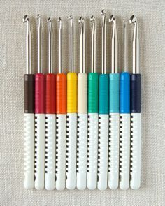 Wool Crochet Hooks with Handle