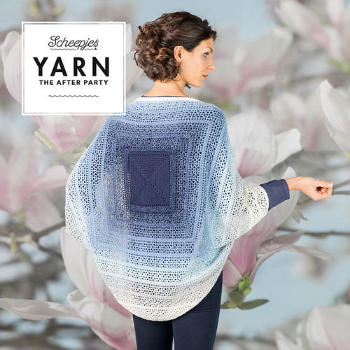 Indigo Shrug pattern