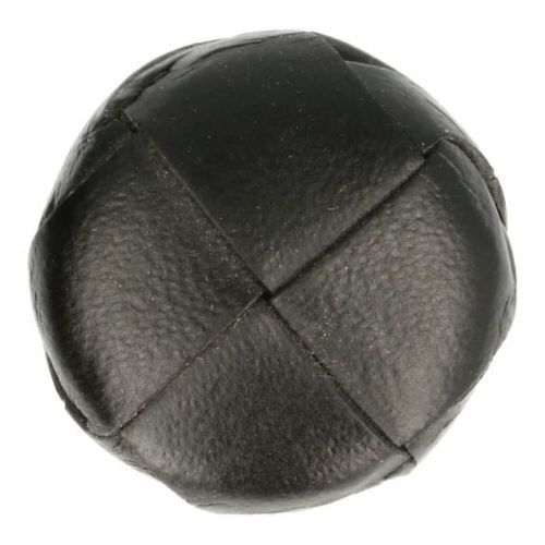 WOVEN FAUX LEATHER BUTTON